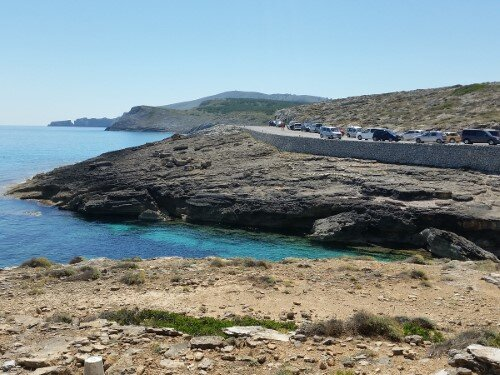 Starting point at Cala Estreta