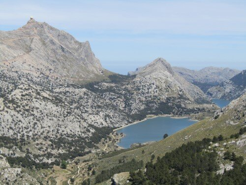 View to Cuber from the L'Ofre summit