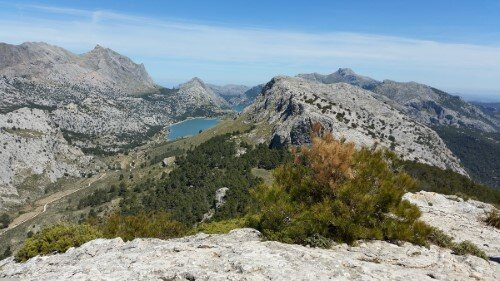 View to Cuber from the summit of L'Ofre