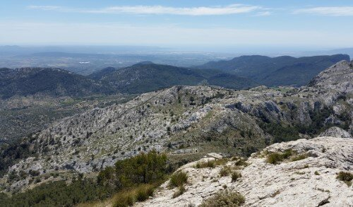 View to Palma from the L'Ofre summit