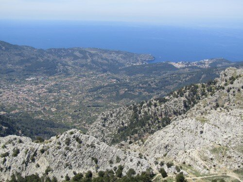 View to Soller from the L'Ofre summit